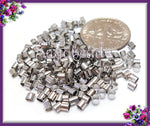 200 Silver Tone Crimp Tube Beads 2mm