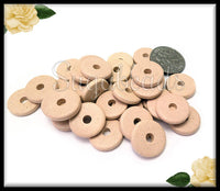 25 Stone Beige Greek Ceramic Round Washer Beads 13mm - Mykonos Ceramic Disc Beads GAM1