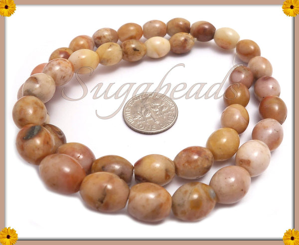 20 Oval Agate beads, Barrel Agate Beads, Gemstone Beads, Honey Agate Beads 8mm x 10mm SBGB8