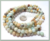 1 Strand Amazonite Matte Beads, 8mm Amazonite Beads, Gemstone Beads SBGB52