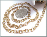 Raw Brass Oval Cable Chain 5ft, Pure Brass Chain, Soldered Chain