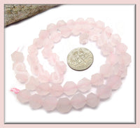 24x Star Cut Frosted Rose Quartz, Matte Rose Quartz, SBGB58 - sugabeads