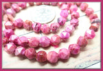 32 Star Cut Pink Crazy Lace Agate Beads 6mm, Agate Gemstones, Pink Agate Beads, SBGB72