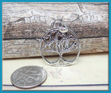 1 Sterling Silver Tree Pendant, 925 Family Tree Pendant, Heart Tree Pendant, SBSS5
