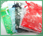 10 Organza Bags in Mixed Colors, Mixed Style Bags, - Jewelry Gift Bags