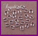 50 Wire Guards, Silver plated over Copper Wire Guardians 4mm