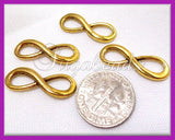 10 Gold Forever Infinity Connector Charms 23mm