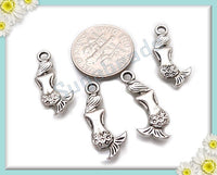 15 Antiqued Silver Mermaid Charms 20mm PS103 - sugabeads
