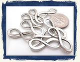 10 Antiqued Silver Forever Infinity Connector charms
