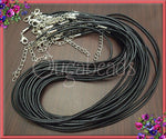 10 Black Necklace Cords, Black Cords 18.5 inches long, Cord Necklaces