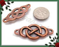 2 Antiqued Copper Infinity Links or Infinity Connectors