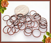 100 Antiqued Copper Jump Rings 8mm 21 Gauge, Copper Jump rings, Open Jump Rings, JRCT1