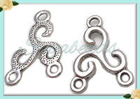 12 Silver Celtic Triskele Connector Charms with 3 loops