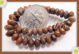 30 Bronze Faceted Rondelle Beads Czech Glass 5mm x 3mm