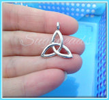 4 Silver Celtic Knot Charms - Silver Celtic Pendants 26mm PS47