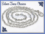 4 Silver Finished Chains -Finished Cable Necklaces 18 inches (CST2)