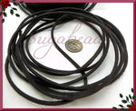 12 Feet Black Faux Suede Cord 2.5mm x 1.5mm