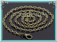 12 Pack Textured Antiqued Brass Necklace Chains - Finished Necklaces 20 inches CBT3