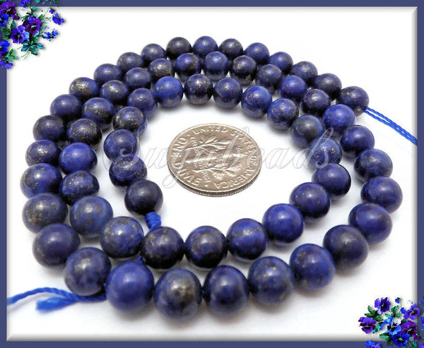 1 Strand Simulated Blue Lapis Lazuli Beads, SBGB17