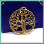 1 Small Natural Bronze Tree - Textured Tree Charm 15mm ND21