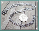 3 Stainless Steel Chains 20 inch, Necklace Chain, 304 Stainless Steel Finished Chains CSST4