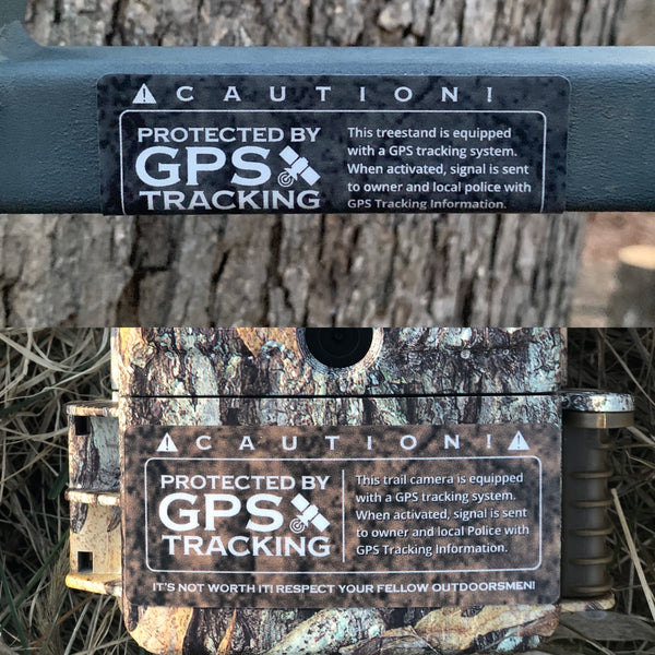 How a Sticker / Decal Can Actually Prevent Tree Stand and Trail Camera Theft