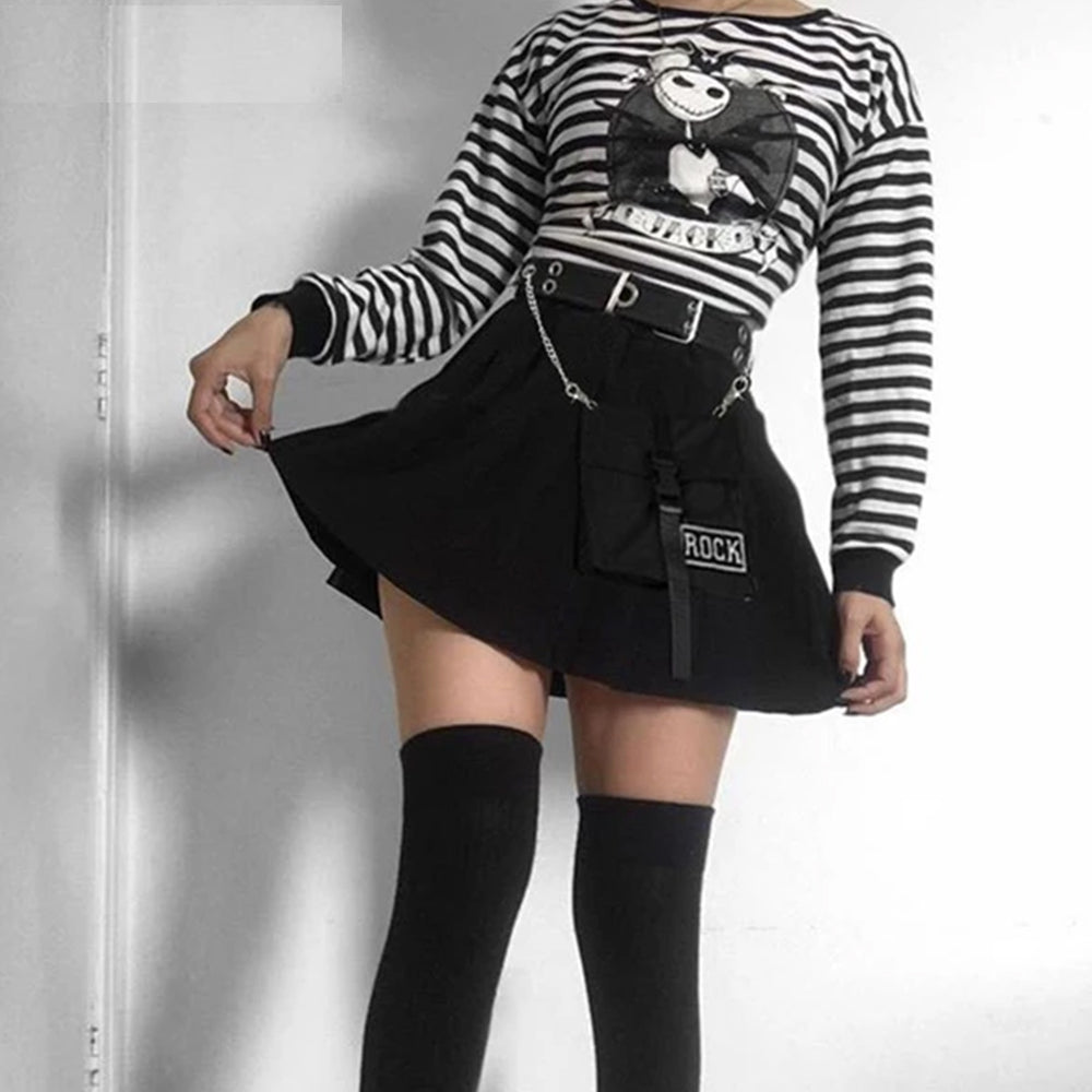 Pleated Punk Gothic Vintage Skirt