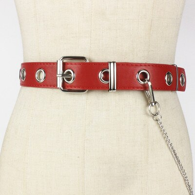 Waist Belt Rock Black Chain