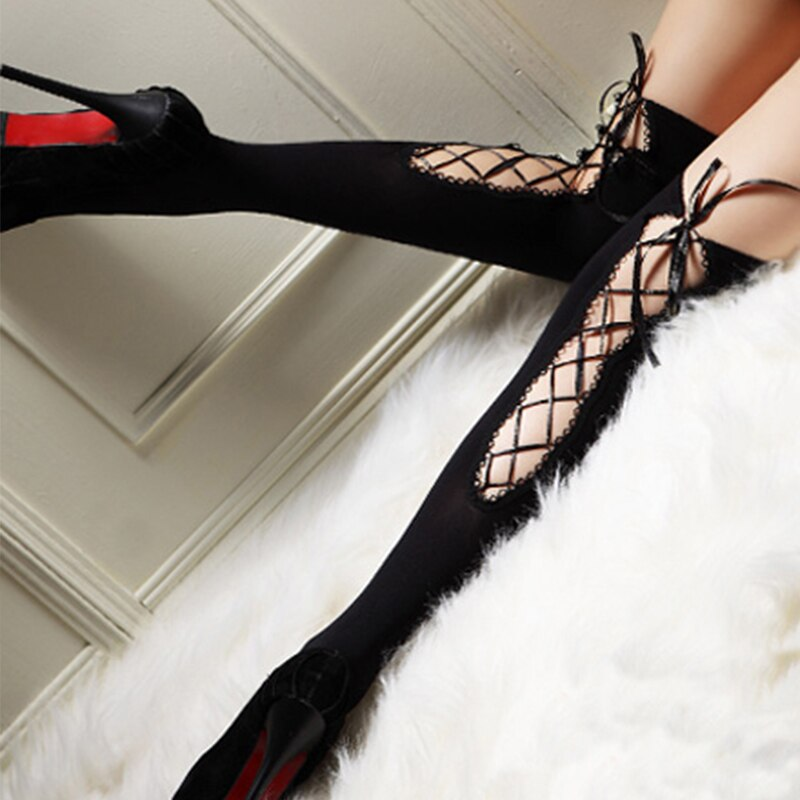 Gothic Punk High Stockings