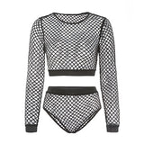 Mesh See Through Sets Two Piece