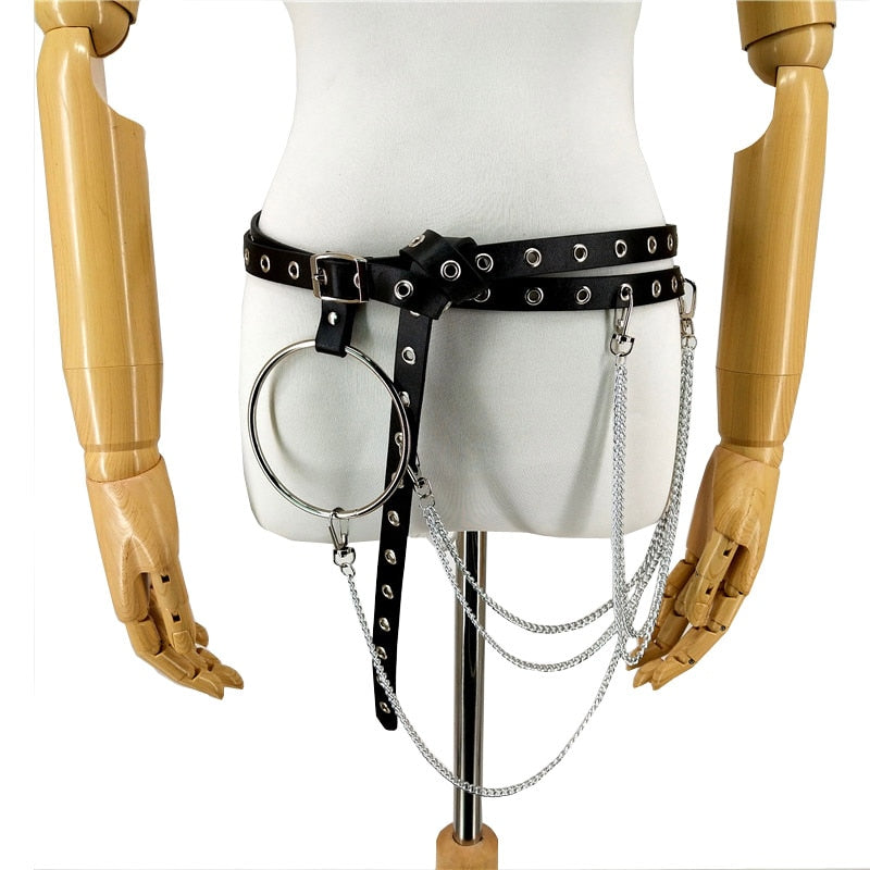 Punk Leather Bondage Harness