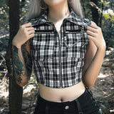 Plaid Punk Camis Top
