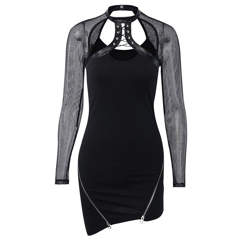 Sexy Mesh Bodycon Women Dress