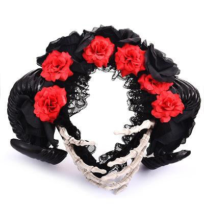 Horn Flowers Hair Accessories