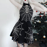 Spider Web Print Dress