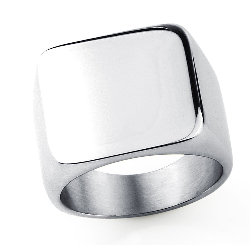 Titanium Steel Blank Plain Men Ring