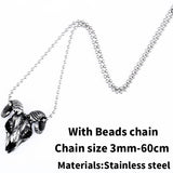 Stainless steel Vikings Sheep head pendant necklace jewelry for man