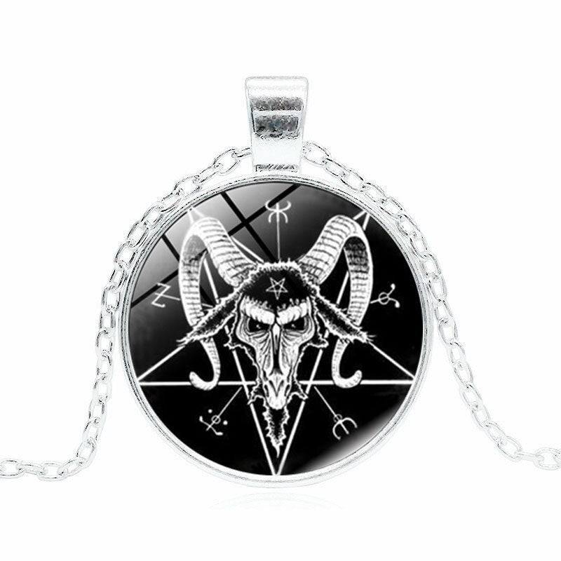 Skull Head Pendant Necklace