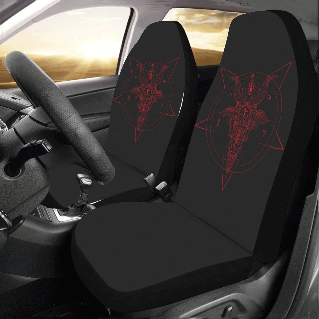 Red Art Car Seat Covers (Set of 2)