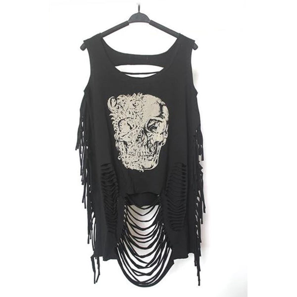 Punk Streetwear Hollow Out Tanks