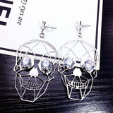 Vintage Skull Face Eyes Earring Jewelry