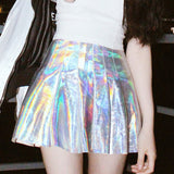 Sexy Reflectived Colorful Mini Skirts