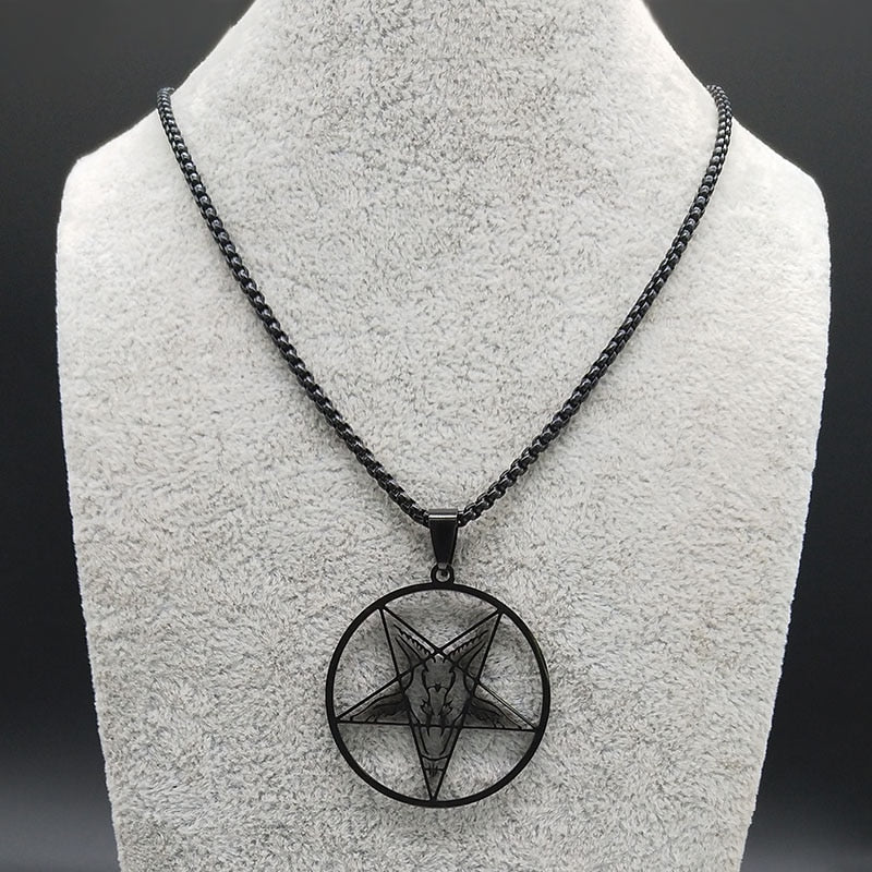 Baphomet Black Stainless Steel Necklace