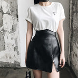 Sexy High Waist Mini Skirt PU Leather