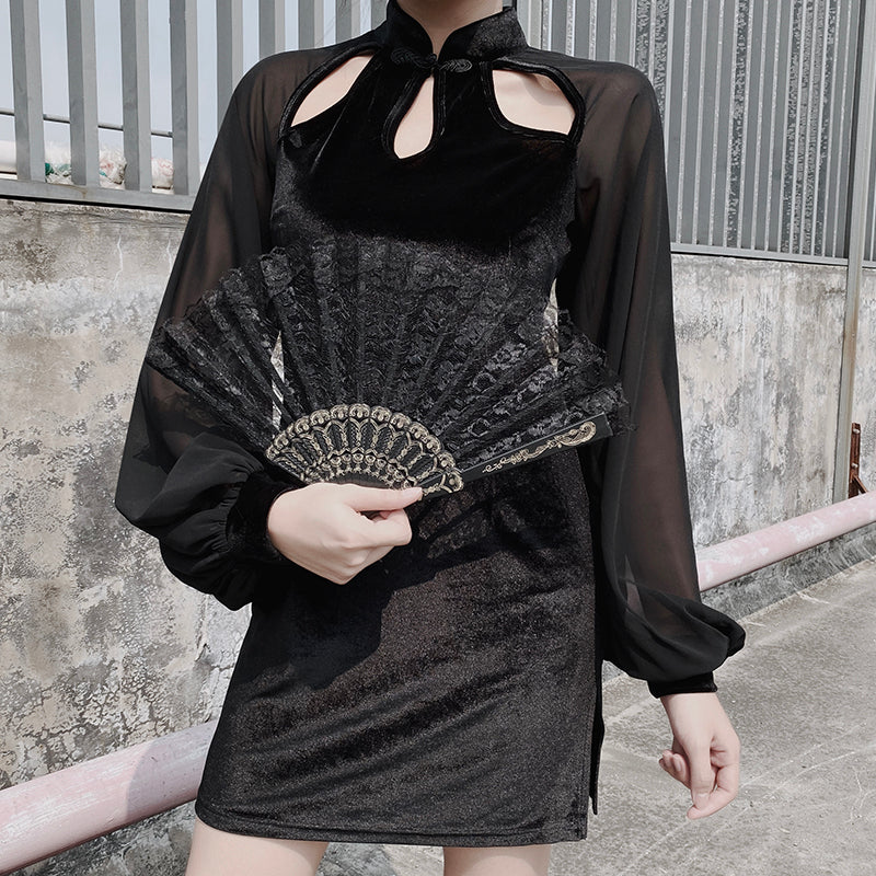 Dress Mesh Long Sleeve Sexy