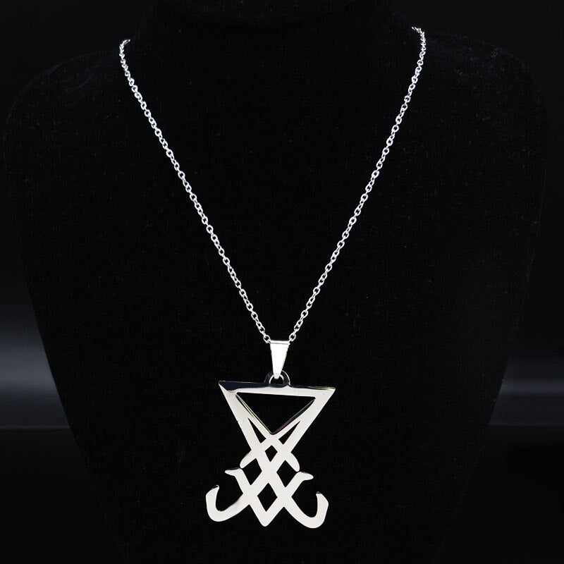Seal of Lucifer LaVey Hidden Devil Necklace
