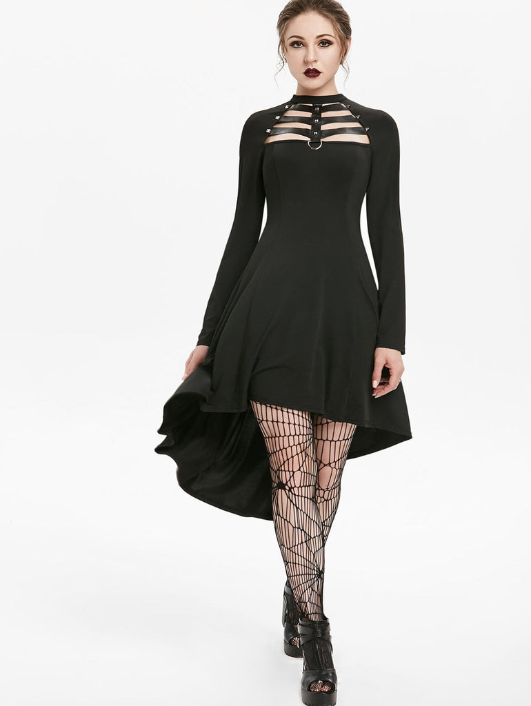 Gothic Faux Leather Dress