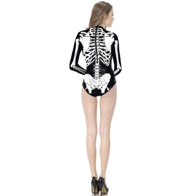 Skull Pattern One-Piece Bodysuit
