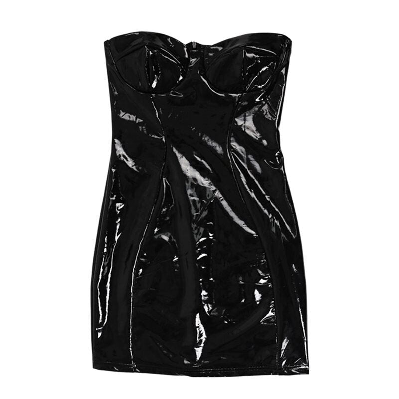 Punk Black Ladies Club Mini Bodycon Dress