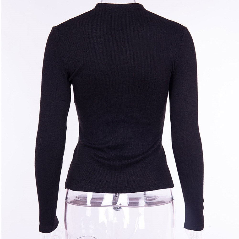 Gothic Sweaters Black Chic Cool